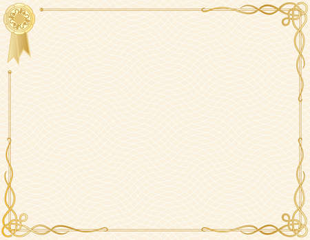 diploma: Certificado de finalizaci�n de plantilla  Vectores