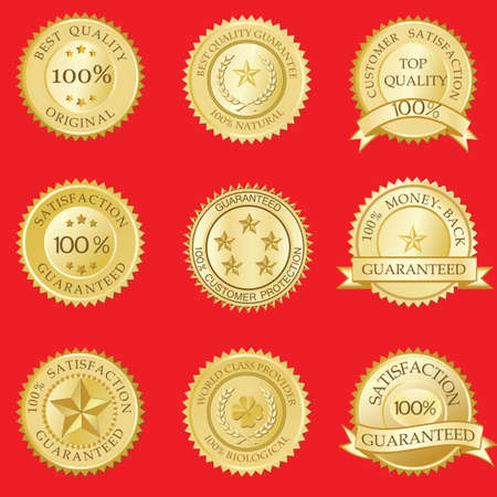Satisfaction Guaranteed Seals Stock Vector - 7295936