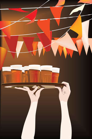 Friday night beer party Stock Vector - 7327828