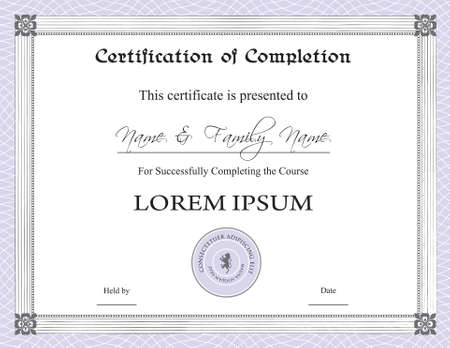 elaborate: Certificate of Completion Template