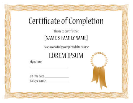 modifiable: Certificate of Completion Template