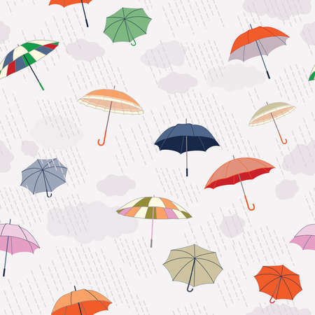Rainy Day Seamless Pattern Stock Vector - 7392167