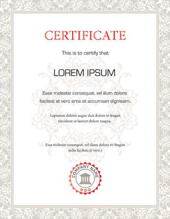 completion: Plantilla de certificado vertical - de prop�sito general  Vectores