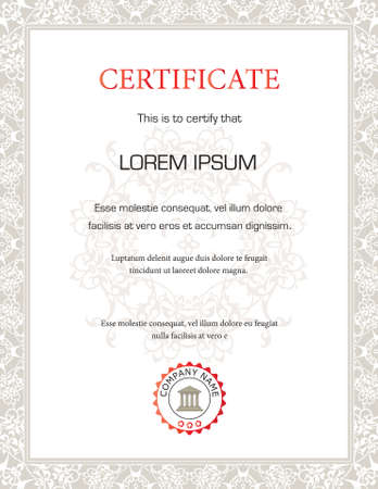 Vertical Certificate template - general purpose