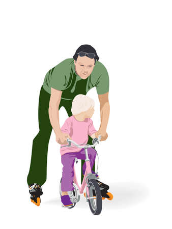 father daughter: father  Illustration