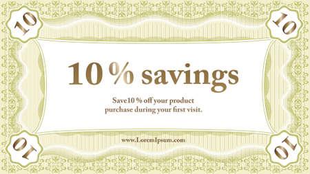 Small Savings Coupon  Vector