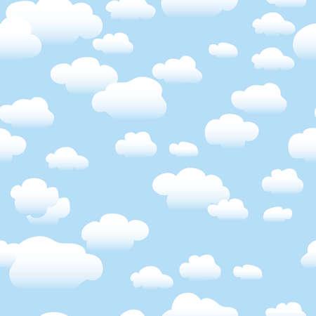 Clouds - Seamless Pattern Illustration