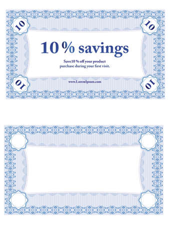 Small Savings Coupon Illustration