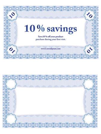 Small Savings Coupon Illustration