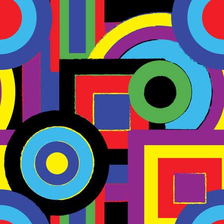 siebziger jahre: Psychedelic retro-Muster  Illustration