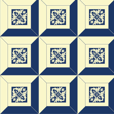 classical geometric repeating background Vector