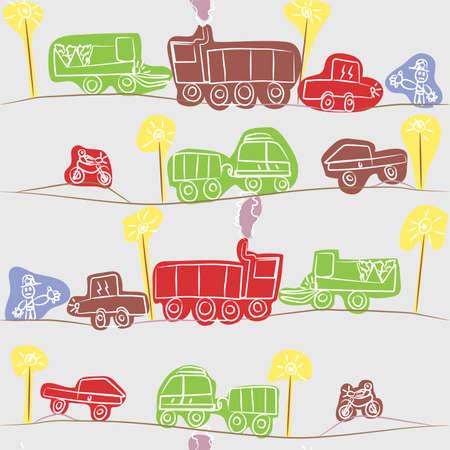 Rush Hour - Kids Drawing Vector