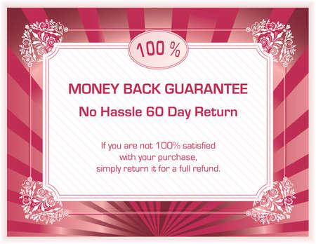 sample text: plantilla de garant�a de satisfacci�n de espalda 100% dinero (en blanco, con texto de ejemplo)