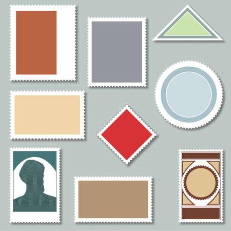 postage stamps: Blank Postage Stamps Illustration