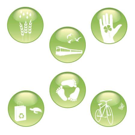 Eco Stickers Set Vector