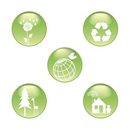 Eco Stickers Set Stock Vector - 8847230