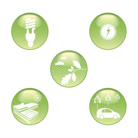 Eco Stickers Set Vector