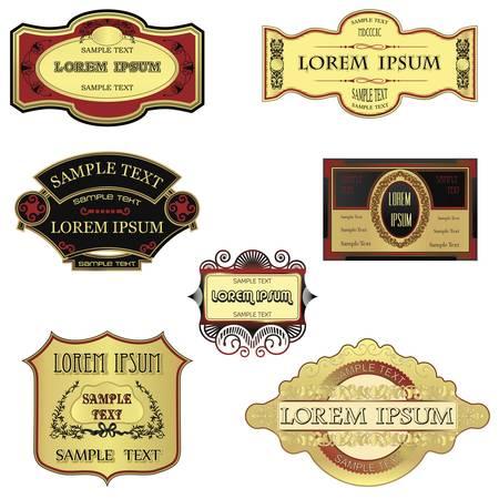 Retro Style Labels Vector