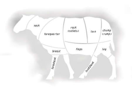 Lamb Meat Diagram
