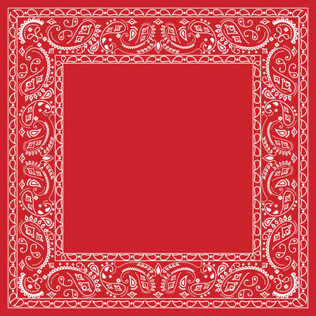 Red bandana design Vector