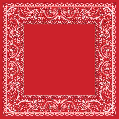kopftuch: Red Bandana design Illustration
