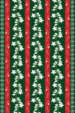 クリスマスの前夜テーブル布デザイン  イラスト・ベクター素材