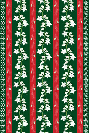 Christmas Eve Table Cloth Design Vector