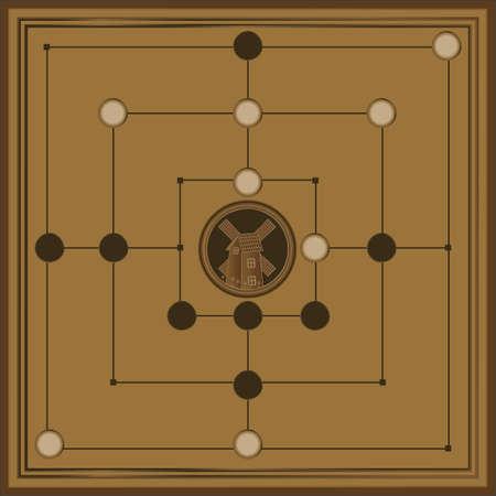 Nine Men's Morris Game Board
