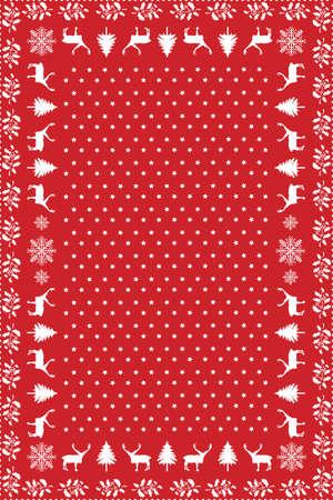 クリスマスのテーブル クロスのデザイン