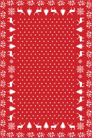 Design for Christmas Table Cloth Stock Vector - 9640162