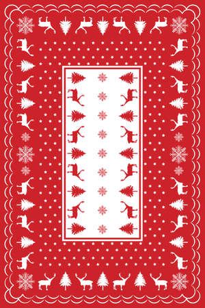 Design for Christmas Table Cloth Vector