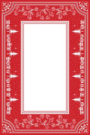 Festive Christmas Table Cloth Stock Vector - 9679481
