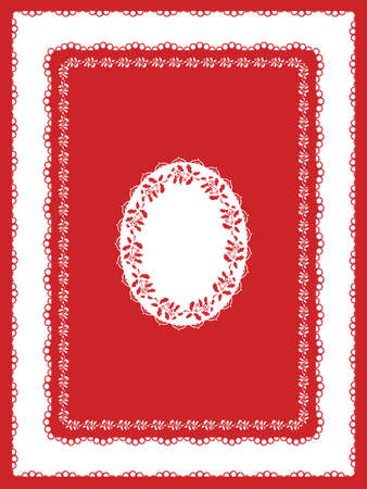 Classic Holiday Tablecloth in Red and White Stock Vector - 9679482