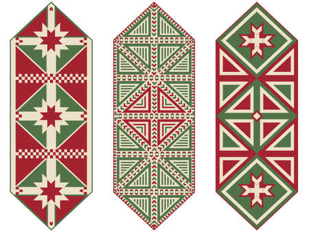 table cloth: Set of Ornamental Christmas Table Runners