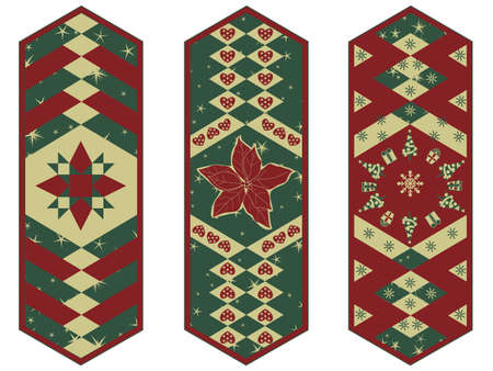 Set of Holiday Table Mats Vector