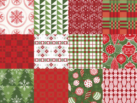 Holiday Patterns Vector