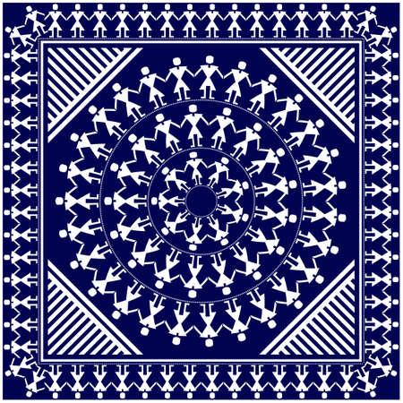 Traditional bandana design Vector