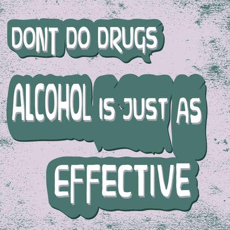 面白い警告-薬をしません。