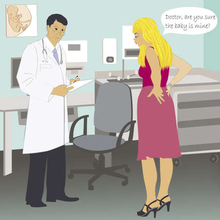 joke: Are you sure its mine? - joke illustration Illustration