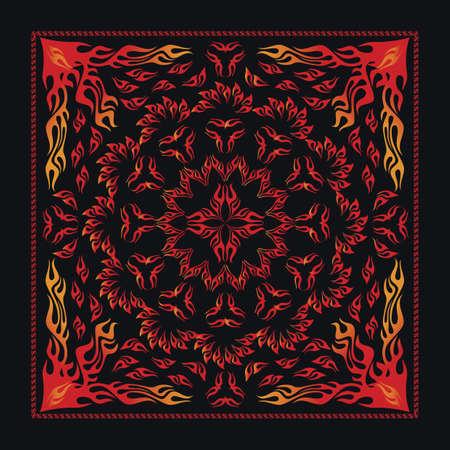 kopftuch: Stammes-Flammen-Bandana Illustration
