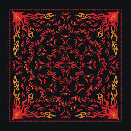 Tribal Flame Bandana Vector