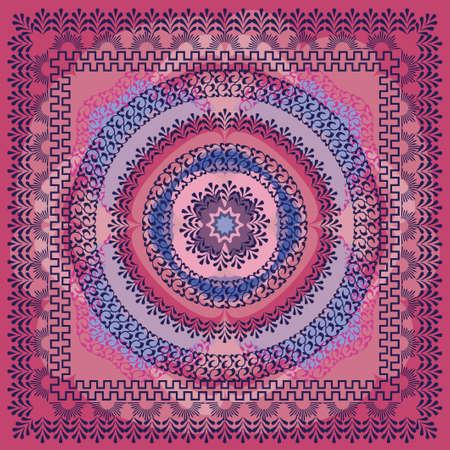 Colorful Square Kerchief Design Stock Vector - 9932259