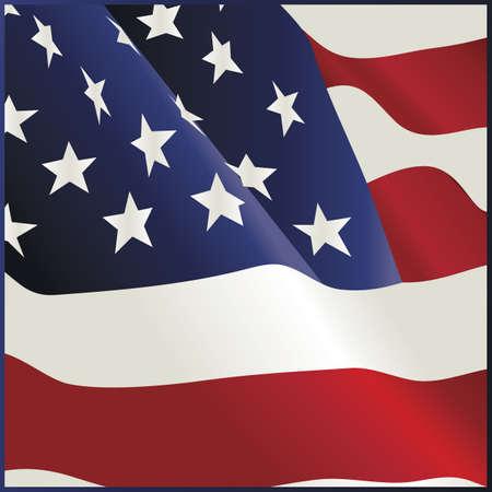 アメリカの国旗のバンダナ設計手を振っています。