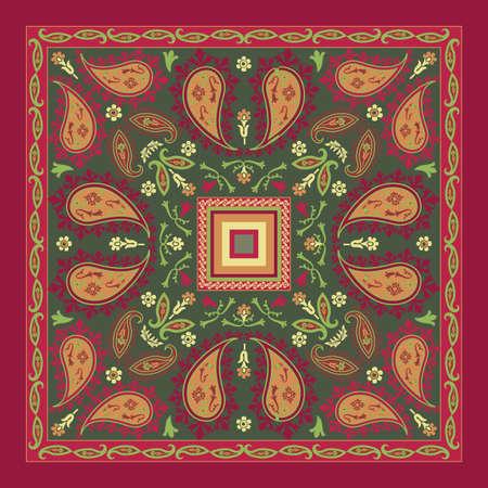 head scarf: Colorful Bandana Design Illustration