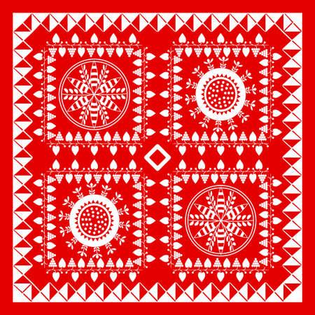 Red and White Bandana Design Stock Vector - 10135461