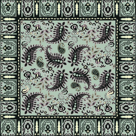 Bandana design; traditional paisley pattern Vector