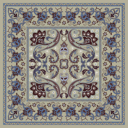 Classical Bandana Pattern Design Illustration