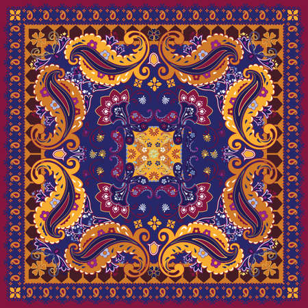 paisley background: Colorful Bandana Design Illustration