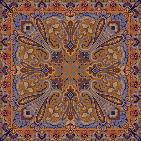 bandana: Traditional Style Colorful Paisley Bandana