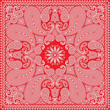 赤いバンダナ設計  イラスト・ベクター素材